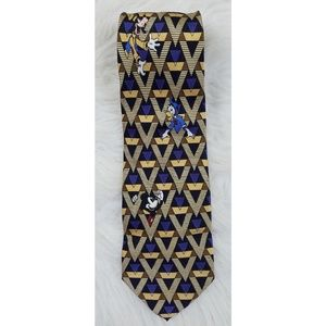 Disney Hand Made Mickey Mouse Silk Tie